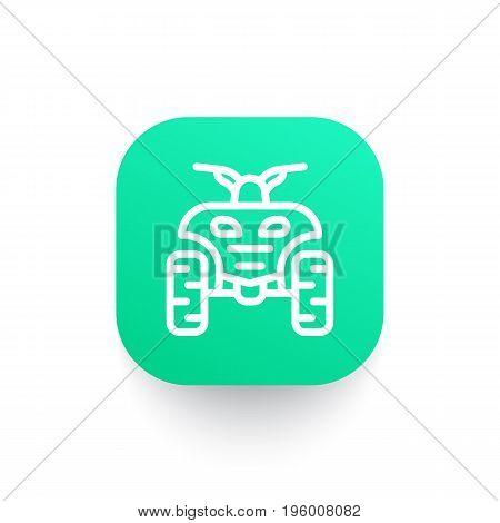 quad bike vector line icon, eps 10 file, easy to edit