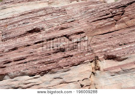 Texture of Rock Wall in Red Rock Canyon Nevada