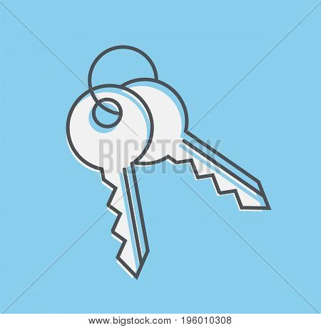 Keys icon. Keys sign isolated. Vector stock.