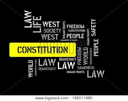 Constitution - Disarrangement - Image With Words Associated With The Topic Community Of Values, Word