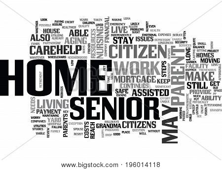 A HOME FOR GRANDMA TEXT WORD CLOUD CONCEPT