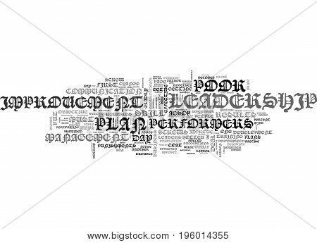 A LEADERSHIP SCREW DRIVER THE DAY IMPROVEMENT PLAN TEXT WORD CLOUD CONCEPT