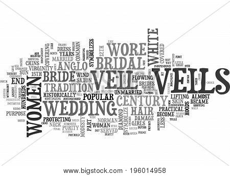 A LITTLE BIT ABOUT THE BRIDAL VEIL TEXT WORD CLOUD CONCEPT