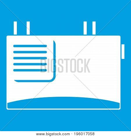 Wall router icon white isolated on blue background vector illustration