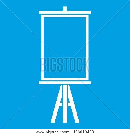Easel icon white isolated on blue background vector illustration