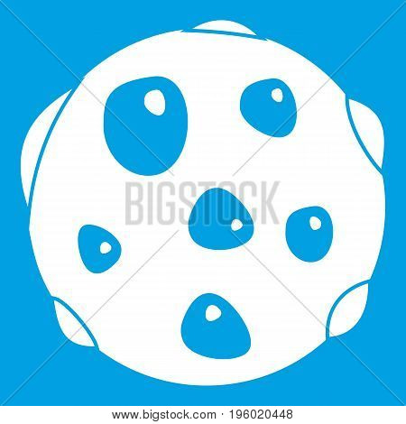 Alone planet icon white isolated on blue background vector illustration
