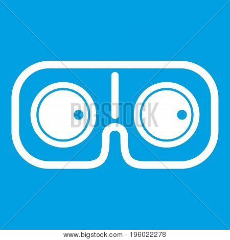 Game glasses icon white isolated on blue background vector illustration