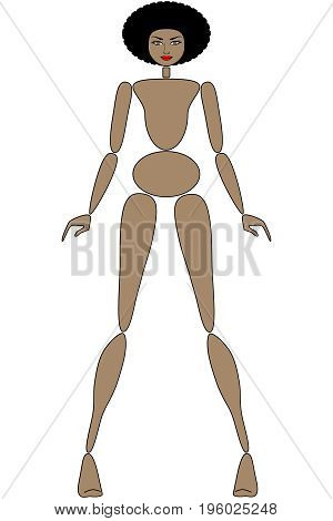 Female mannequin for fashion design - POSITION 02