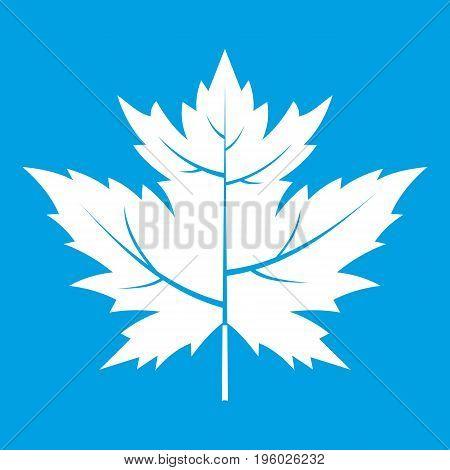 Gooseberry leaf icon white isolated on blue background vector illustration