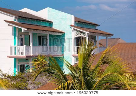 View Of The Hotel Of The Island Of Cayo Largo, Cuba.