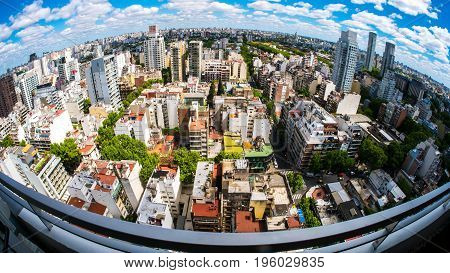 BUENOS AIRES, ARGENTINA SEPTEMBER 7: View of the skyline on a sunny day on September 7, 2016 in Buenos Aires, Argentina.