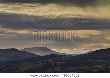 Scenic Hills of Snowdonia National Park in Wales