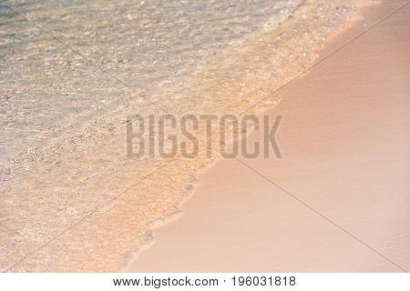 Beach Wave Close-up Of Cayo Largo, Cuba. Ñlose-up.