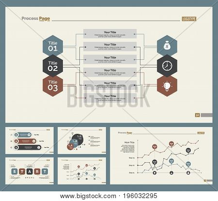 Infographic design set can be used for workflow layout, diagram, annual report, presentation, web design. Business and economics concept with process, line and percentage charts.