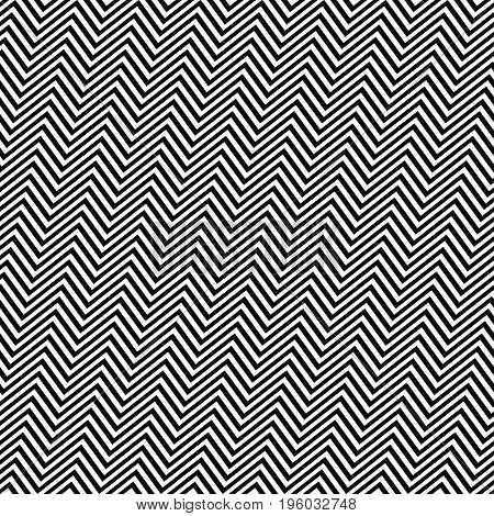 Black and white angular seamless zig zag line pattern