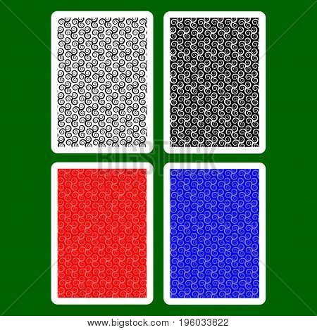 Playing Card Back Designs , Triskele pattern vector set