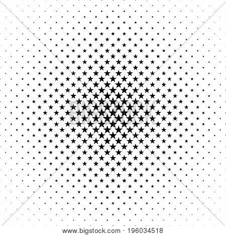 Monochromatic pentagram star pattern - abstract vector background design from geometrical shapes