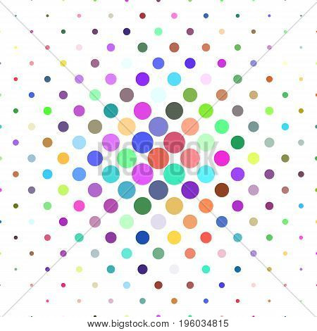 Abstract circle pattern background - geometric vector graphic design from dots in colorful tones