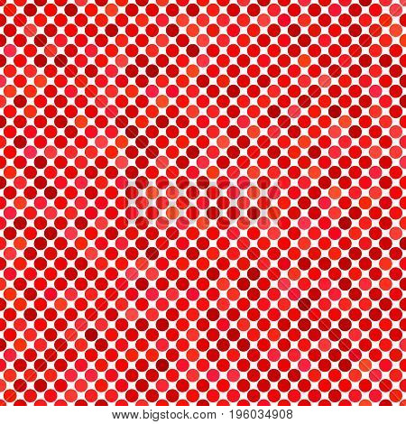 Colored dot pattern background - geometric vector graphic design from red circles