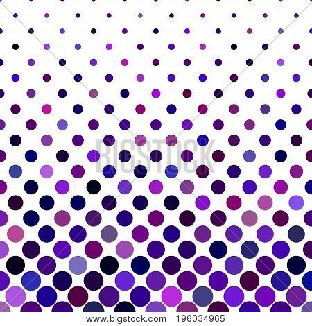 Colored dot pattern background - geometric vector illustration from purple circles