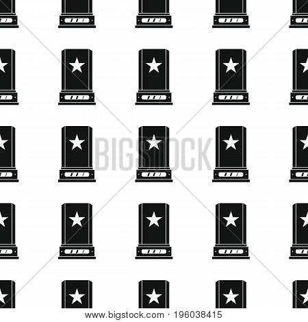 Awards sport winner black simple silhouette vector seamless pattern. Silhouette stylish texture. Repeating awards seamless pattern background for winner sport design and web
