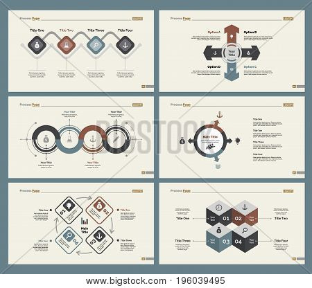 Infographic design set can be used for workflow layout, diagram, annual report, presentation, web design. Business and teamwork concept with process charts.