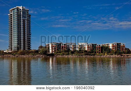 Apartment Buildings on the waterfront of New Westminster