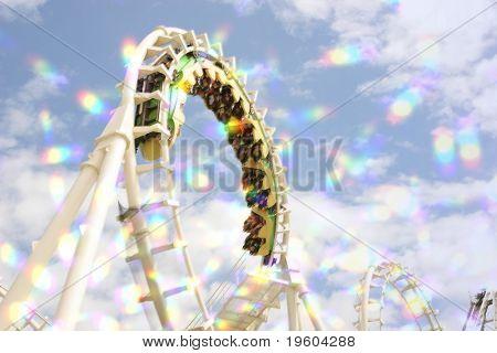 blur roller coaster ride with starburst.