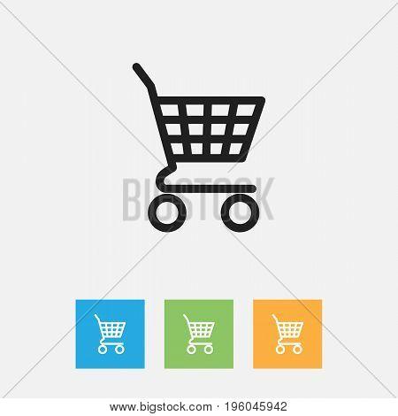 Vector Illustration Of Business Symbol On Shopping Bag Outline