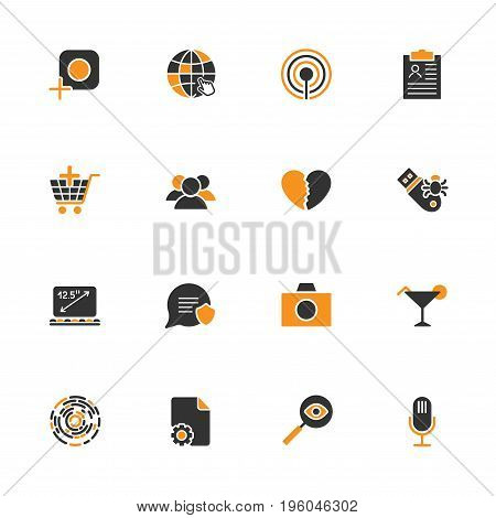 Simple Ui Icons For App, Sites, Programs. Different Ui Icons. Simple Pictograms On A White Backgroun
