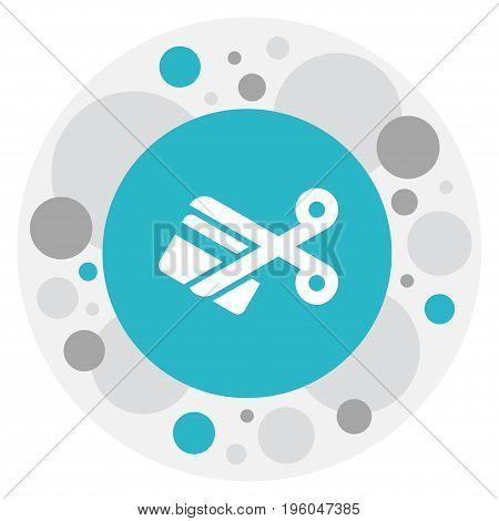 Vector Illustration Of Business Symbol On Cutting Icon