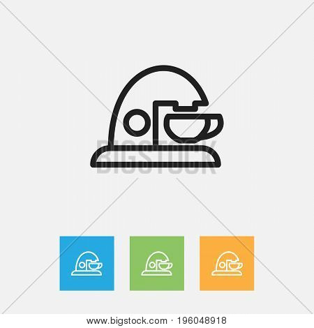 Vector Illustration Of Cook Symbol On Device Outline