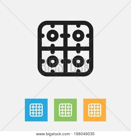 Vector Illustration Of Meal Symbol On Gas Outline