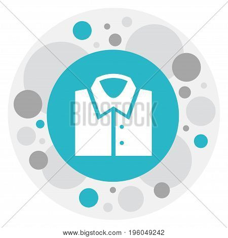 Vector Illustration Of Business Symbol On Shirt Icon
