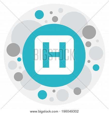 Vector Illustration Of Journey Symbol On Hospital Icon