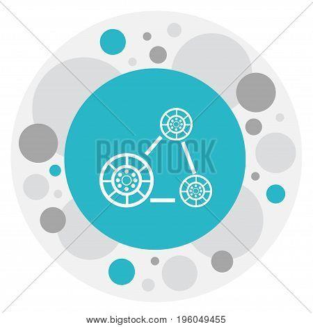 Vector Illustration Of Repair Symbol On Engine Belt Icon