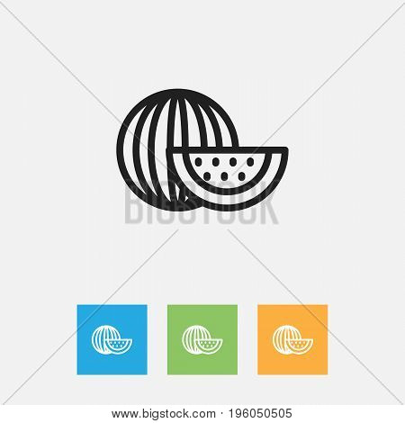 Vector Illustration Of Cooking Symbol On Watermelon Outline