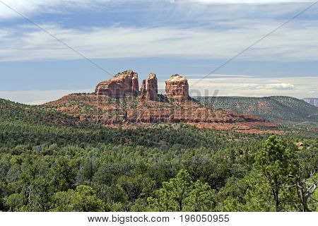 Distant Peaks in the Desert near Sedona Arizona