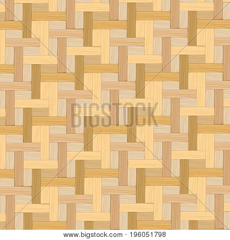 Wooden striped, Bamboo basket texture background vector illustration.