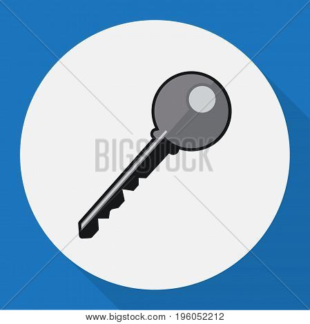 Vector Illustration Of Safety Symbol On Key Flat Icon