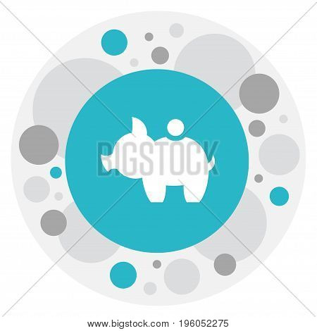 Vector Illustration Of Business Symbol On Pig Money Icon