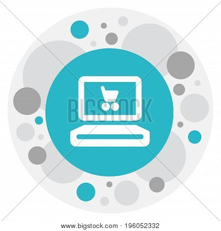 Vector Illustration Of Shopping Symbol On Online Shopping Icon