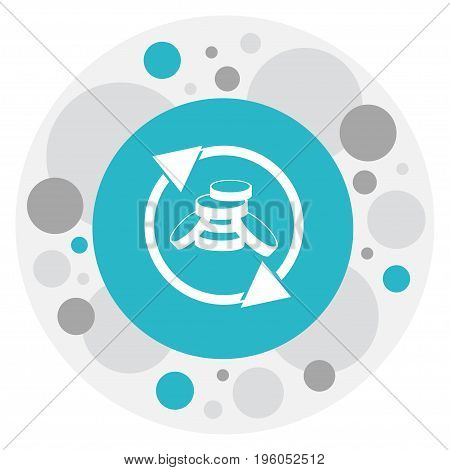 Vector Illustration Of Financial Symbol On Income Icon