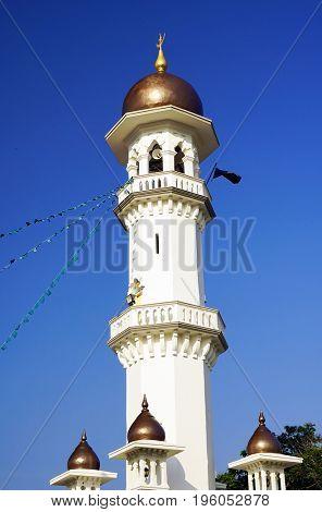 Kapitan Keling Mosque in Georgetown, Pinang Island, Malaysia, Asia