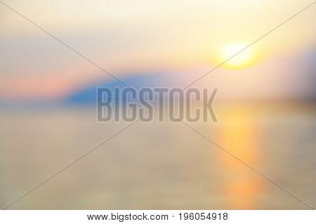 Sea and sky at sundown - defocused blurred background