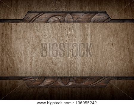 wood template with carving design