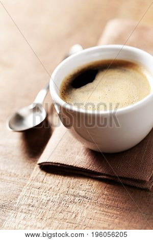 Cup of black coffee (close-up)