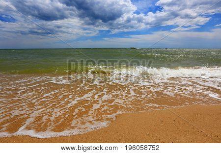 Nice summer day scene on sea shore