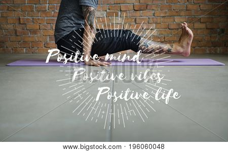 Yoga healthy lifestyle relaxation