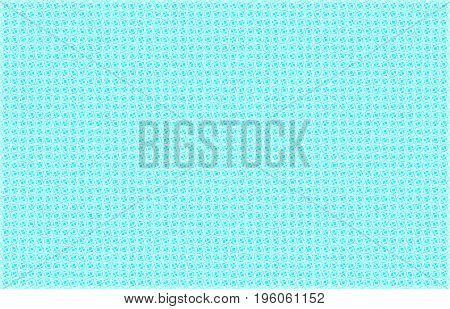A blue and white abstract composed of diamond shapes provides a background with a retro look.